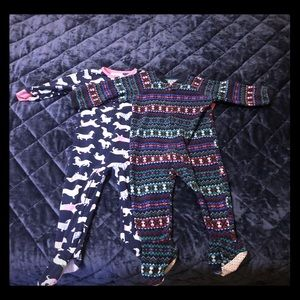 Fleece Footie Pajamas Set